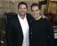 Michael with Dean Cain Backstage at The CW's Masters of Illusion Taping
