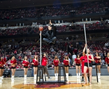 Michael Grandinetti Chicago Bulls Playoffs Halftime Levitation