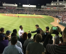 Michael Grandinetti Inning Break Magic at Dr. Pepper Ballpark