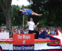 Michael Grandinetti Levitates A Girl in Washington DC's 4th of July Parade