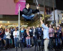 Michael Grandinetti Levitates on Hollywood Boulevard