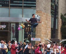 Michael Grandinetti Levitates LIVE Above Hollywood Boulevard