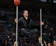 Michael Grandinetti Milwaukee Bucks Halftime Levitation