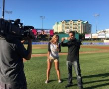 Michael Grandinetti Game Opening Magic at Dr. Pepper Ballpark