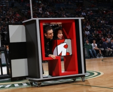 Michael Grandinetti Shrinking Girl Illusion During Milwaukee Bucks Halftime