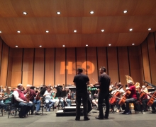 Michael Rehearses With The Huntsville Symphony Orchestra