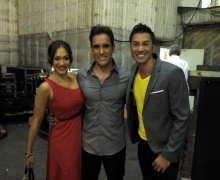 Michael Grandinetti with Diana DeGarmo and Ace Young Backstage at Masters of Illusion