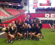 Michael And The Arizona Cardinals Cheerleaders