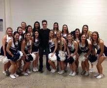 Michael Grandinetti and the Penn State Cheerleaders